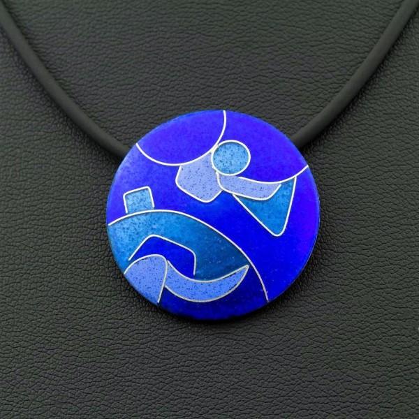 Azzurro - Kettenanhänger Rund