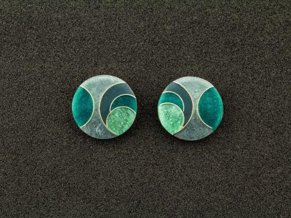 Emaille - Ohrstecker Elegance, rund