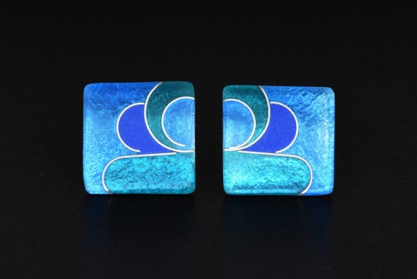 Azzurro - Ohrstecker Quadrat