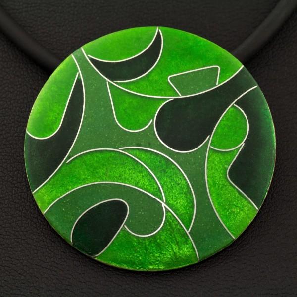 Green-Kettenanhänger rund, groß