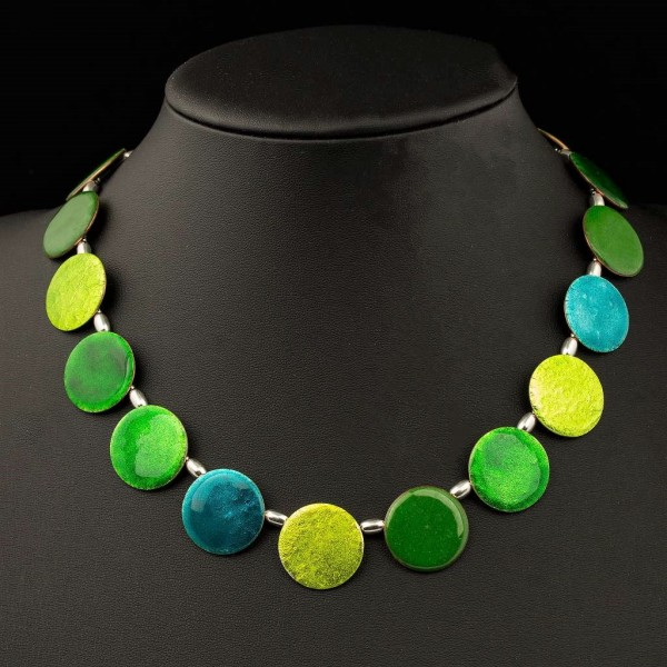 Emaille - Collier Rondo Green