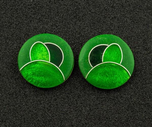 Green - Ohrstecker rund