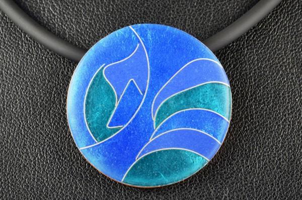 Azzurro - Kettenanhänger rund, klein