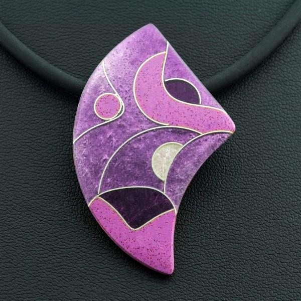 Purple - Kettenanhänger Asymmetrisch