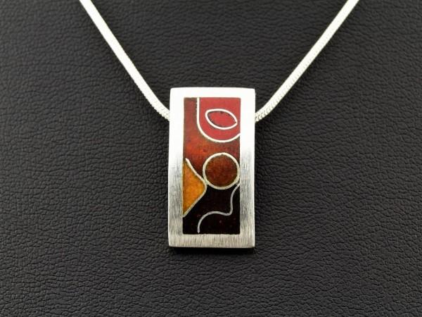 Emaille - Silberanhänger Osmo Red