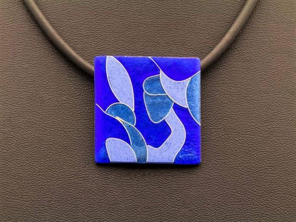 Azzurro - Kettenanhänger Quadrat