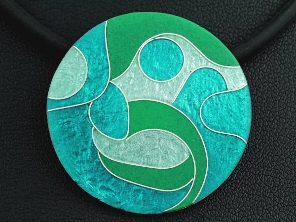 Smaragd - Kettenanhänger rund, mittel
