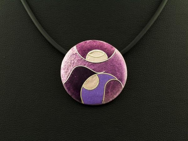 Emaille - Kettenanhänger Purple klein