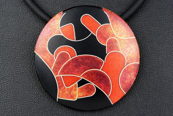 Rubin - Kettenanhänger rund, groß