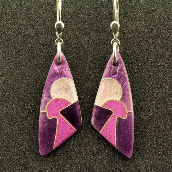 Purple - Ohrhänger Dreieck