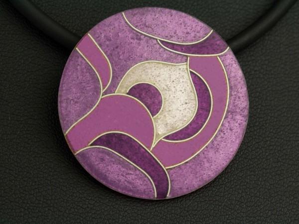 runder Emailleanhänger plan 34 mm Durchmesser