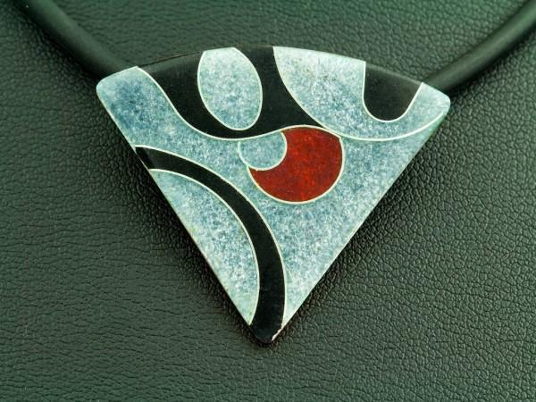 Emaille - Kettenanhänger Elegance Dreieck