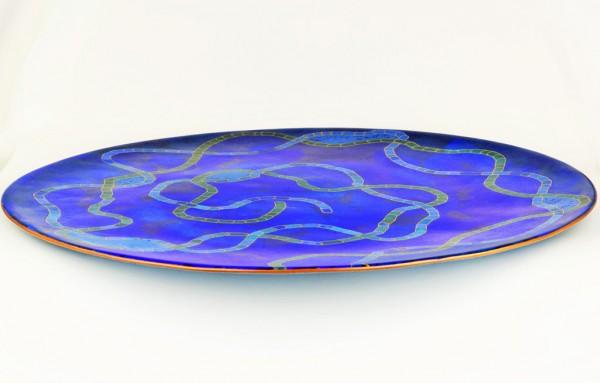 Emaille - Dekoschale Big Blue