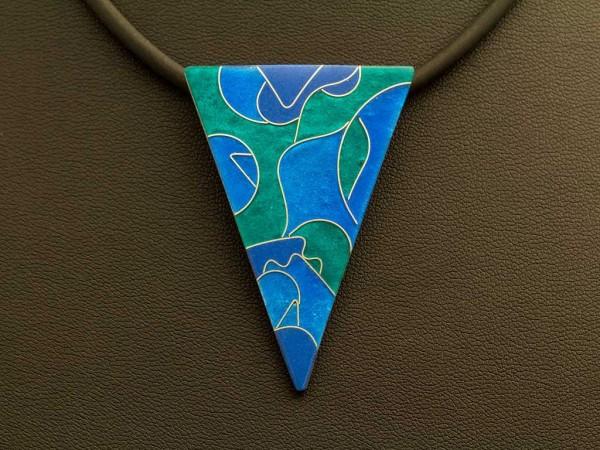 Azzurro Kettenanhänger Dreieck Groß